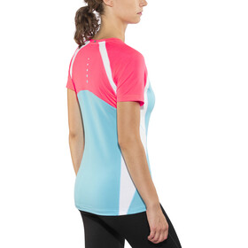 Salming Nova Tee Women Coral/Light Blue